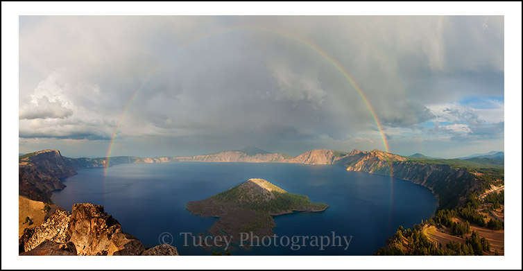Rainbow over Crater Lake, Crater Lake National Park, OR