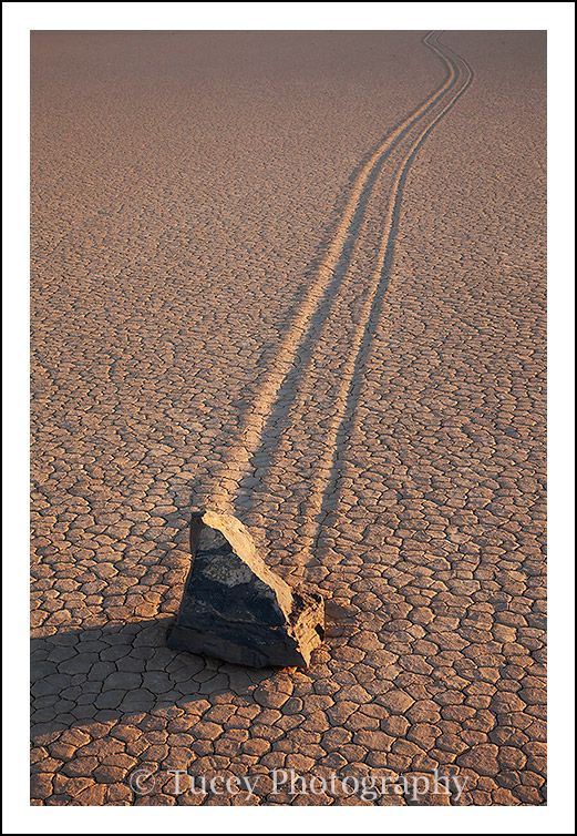 Moving Rock, Death Valley, California