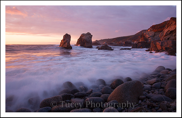 Sunset at Rocky Beach in Garrapata